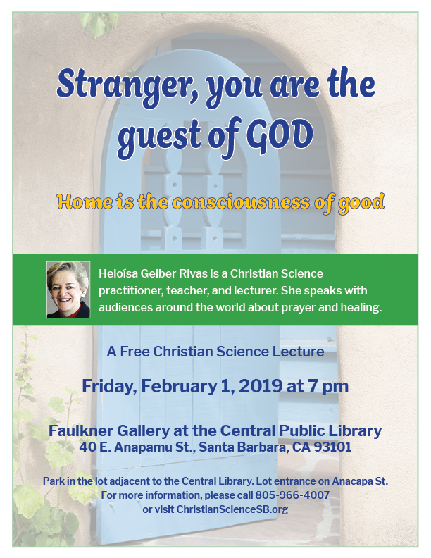 Stranger, you are the guest of God, by Heloiśa Rivas